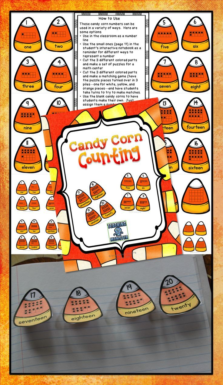 Candy Corn Math Puzzles And Interactive Notebook School Ideas
