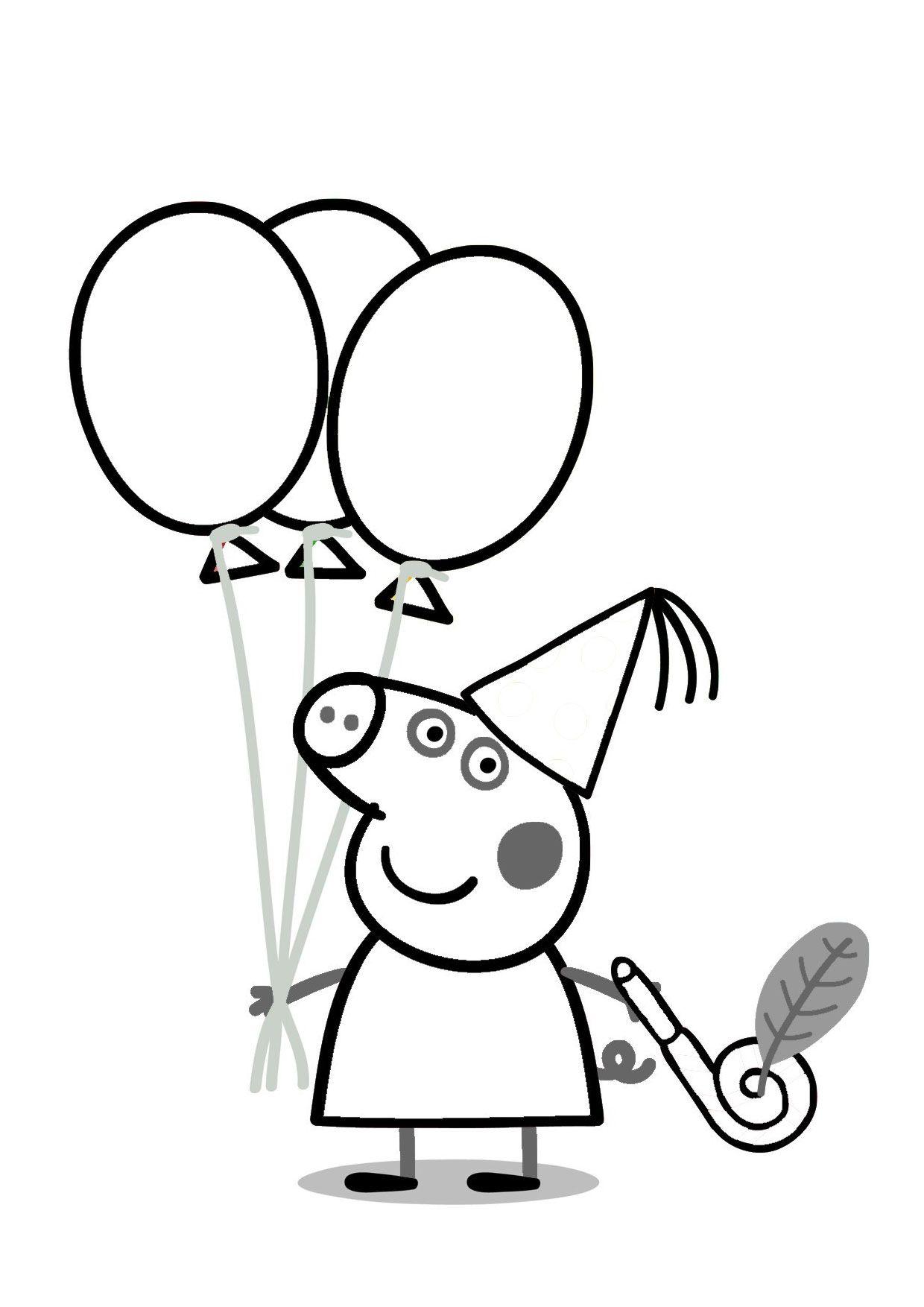 54 Disegni Di Peppa Pig Da Colorare Libri Da Colorare Peppa Pig Festa Di Compleanno Peppa Pig