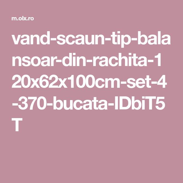 Olx Balansoar.Vand Scaun Tip Balansoar Din Rachita 120x62x100cm Set 4 370 Bucata