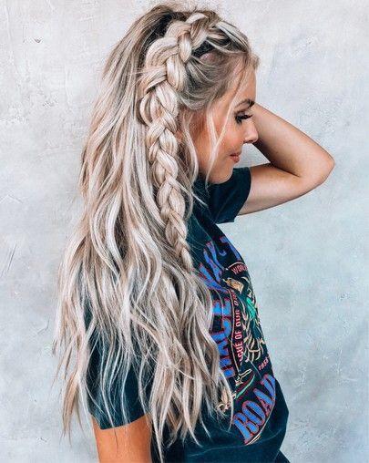 P I N T E R E S T Adoredbynone Long Hair Styles Hair Styles Dutch Braid Styles