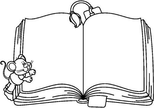 Open Book Coloring Google Trsene Le Idee Della Scuola Cornici Alfabeto Carattere