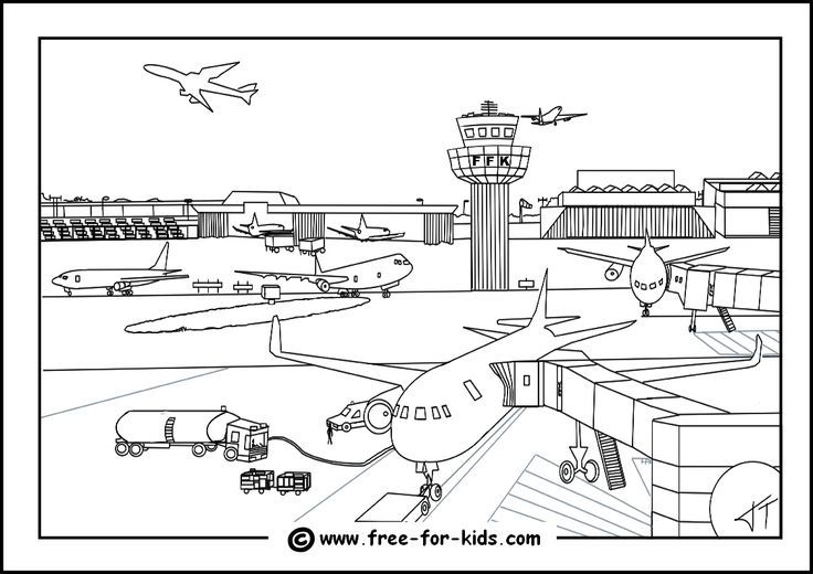 airport coloring pages printable