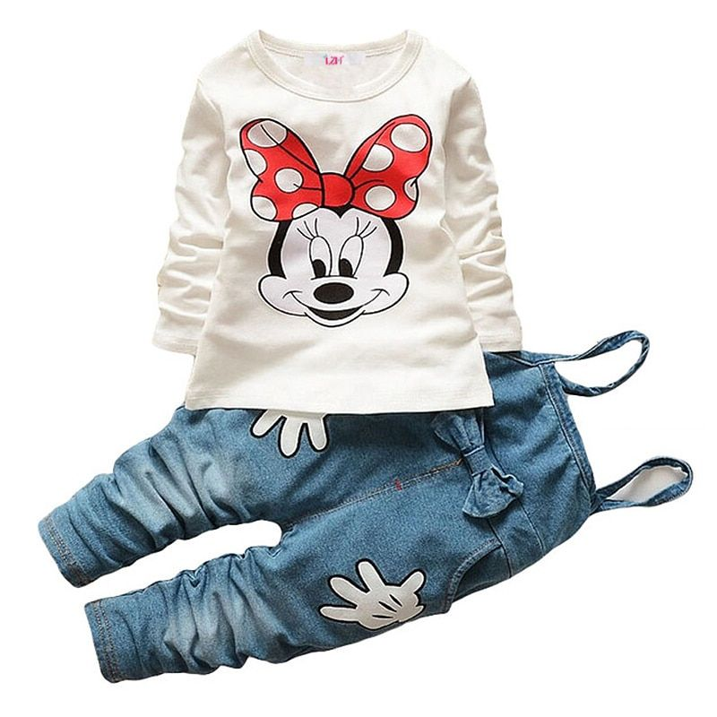 13b09b2aeb75f Discount This Month 2018 Long Sleeve Winter Children Clothing Baby Girls  TshirtJeans Outfit Kids Clothes Girls