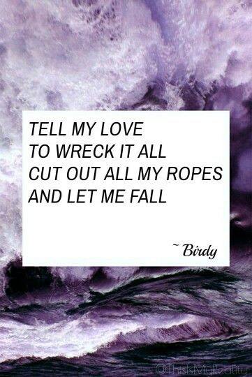 Skinny Love Birdy Made By Thisismyreality Song Quotes Music