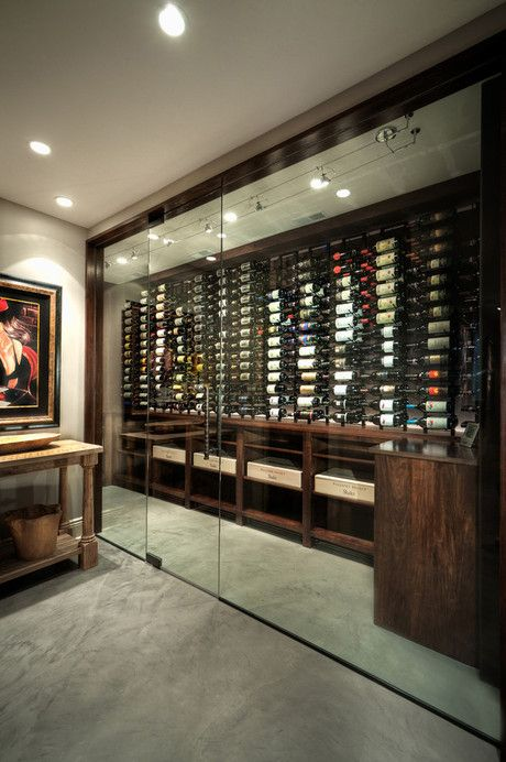 A Smart Wine Room With Innovative Design It Features A Glass Wall