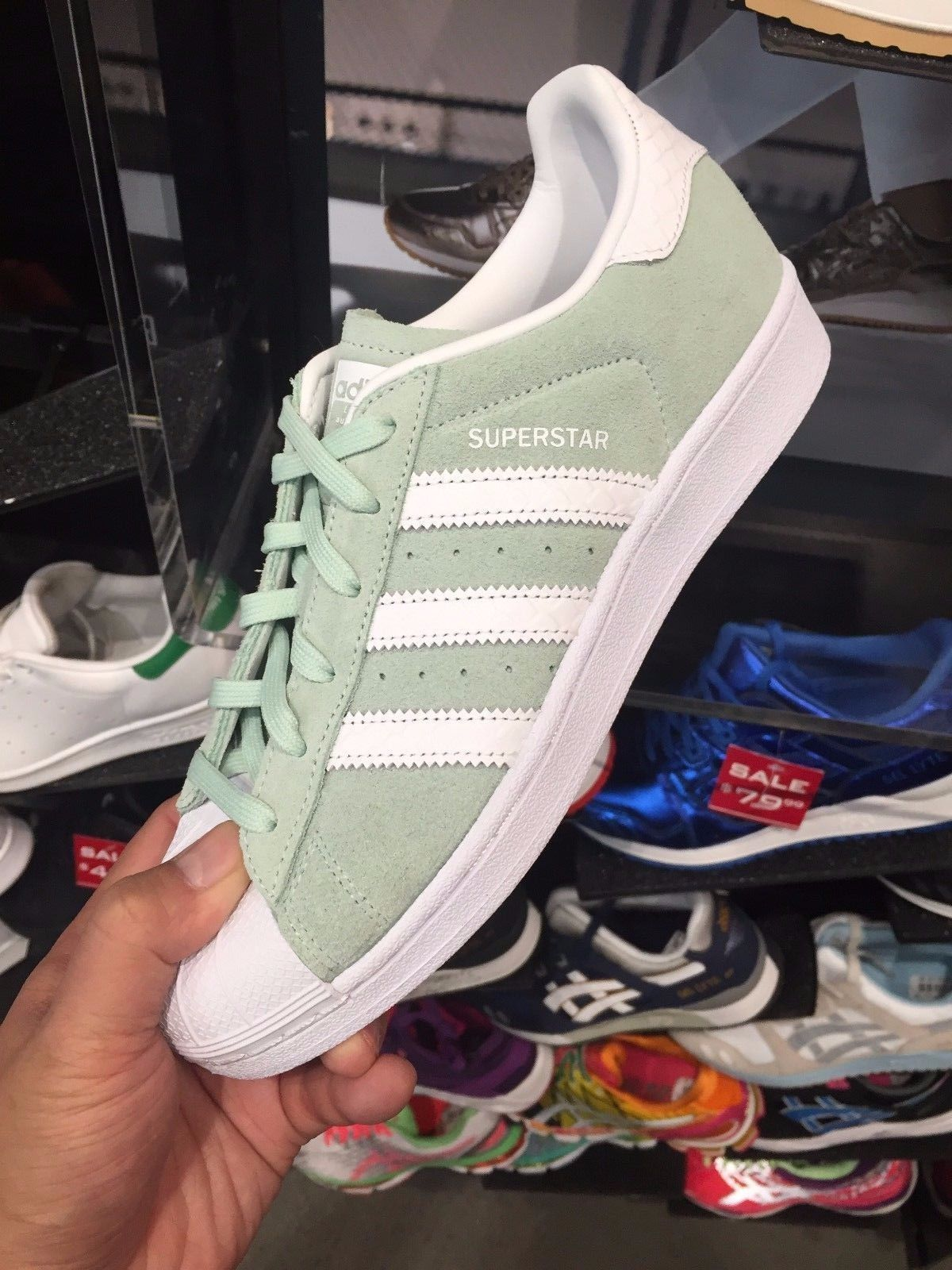 adidas superstar ice mint