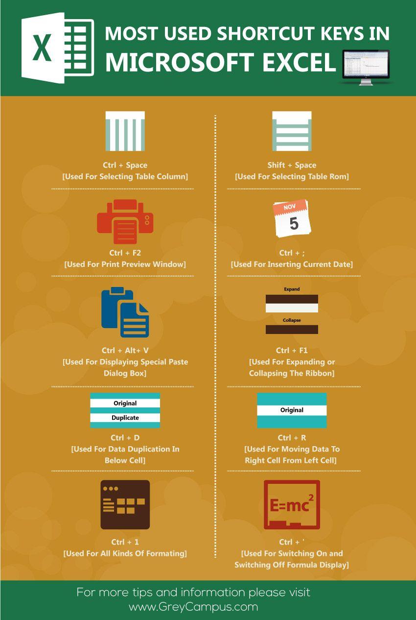 Pin by Raja Koppula on Infographics | Microsoft excel, Microsoft