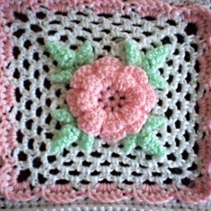 Irish Rose Square Crochet Pinterest Squares Square Patterns