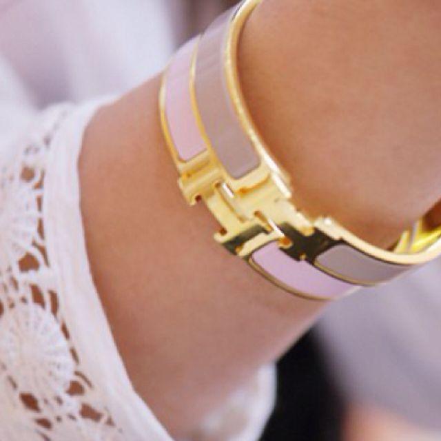 Hermes bracelets.
