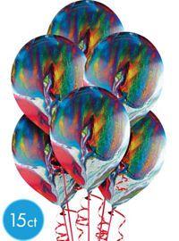 Rainbow Marble Balloons 15ct