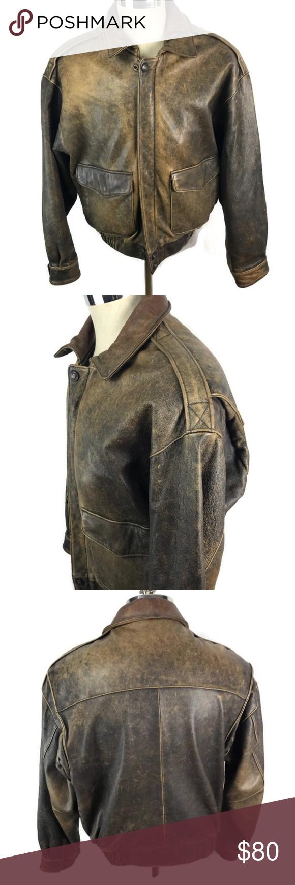 Wilson Bomber Leather Jacket Motorcycle Adventure Vintage