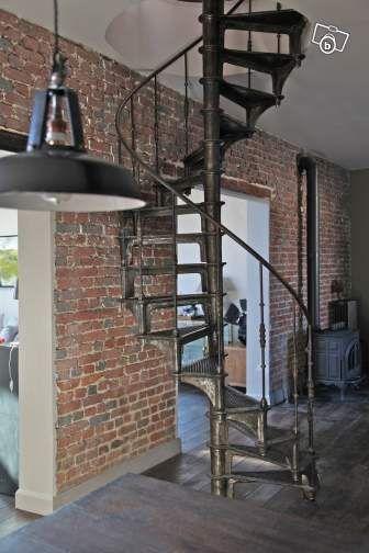 escalier colima on epoque industrielle 19 me escalier pinterest escalier colima on. Black Bedroom Furniture Sets. Home Design Ideas