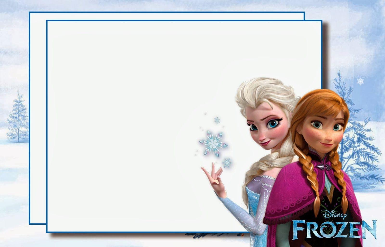 Frozen Party Free Printable Invitations Convite De Aniversario