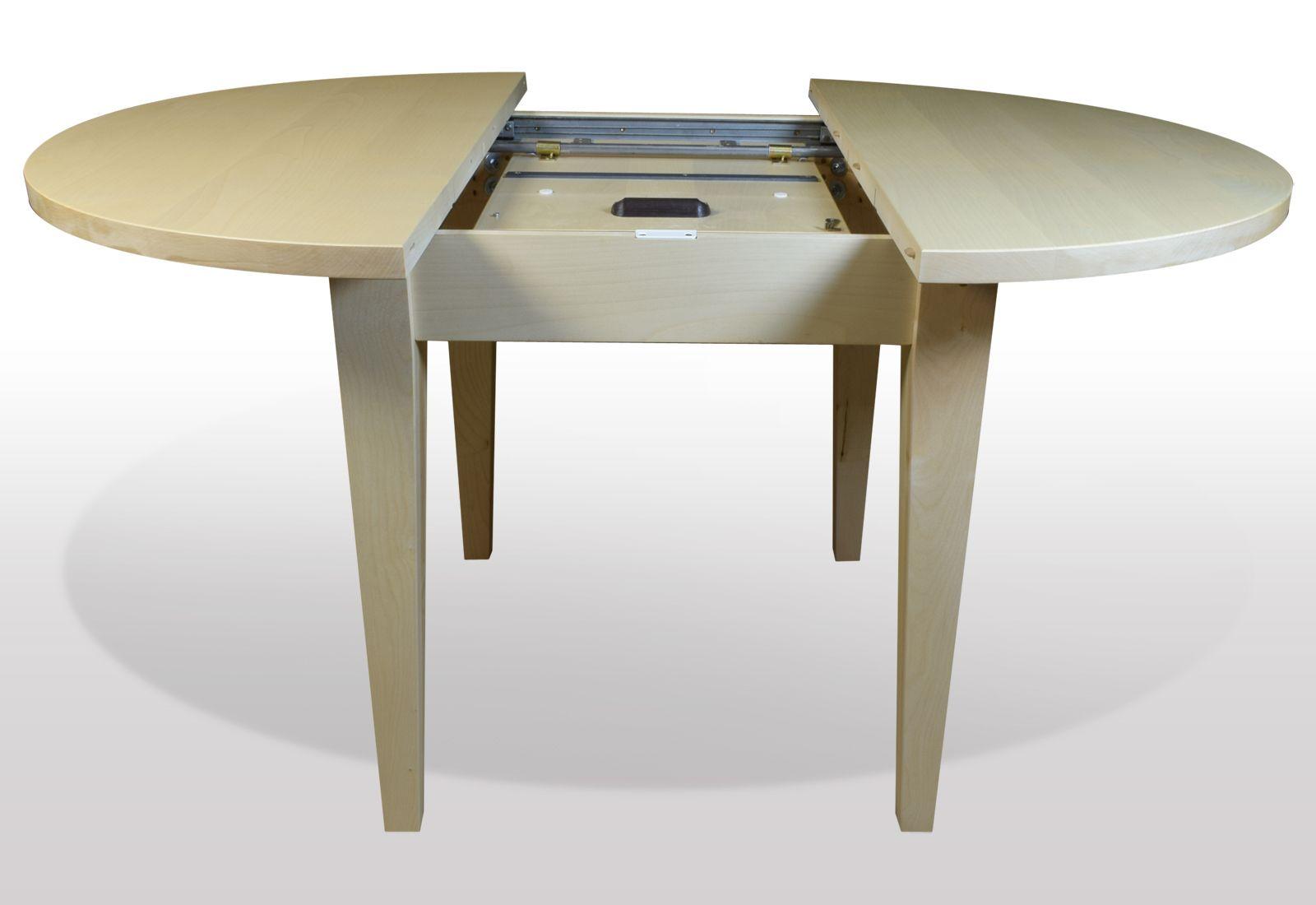 runder Tisch aus Ahorn ausziehbarBild von tischmoebel.de