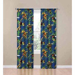 Walmart Teenage Mutant Ninja Turtles Room Darkening Panels Turtle Room Ninja Turtle Room Ninja Turtle Bedroom
