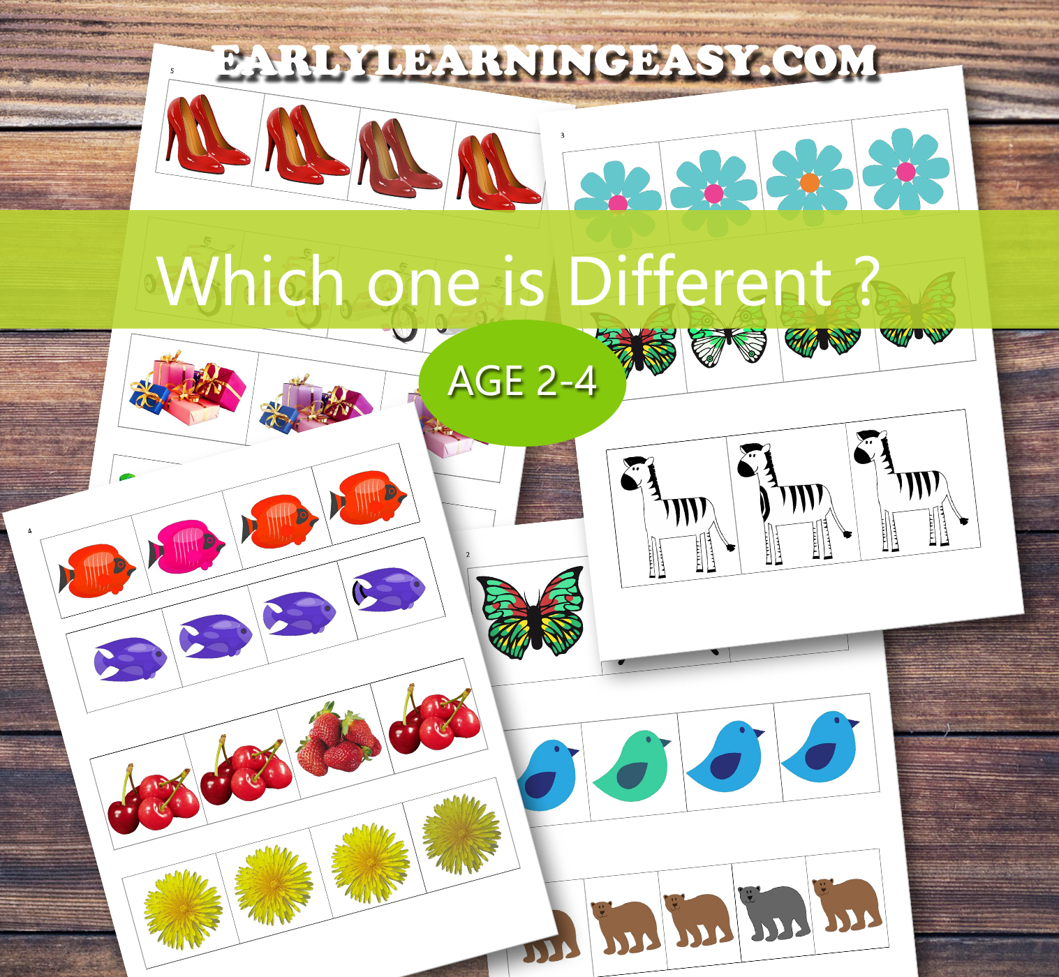 Which One Is Different Printable Activity For Toddlers 2 Years And Up Free Printa Visual Discrimination Worksheets Visual Discrimination Preschool Activities [ 1400 x 1517 Pixel ]