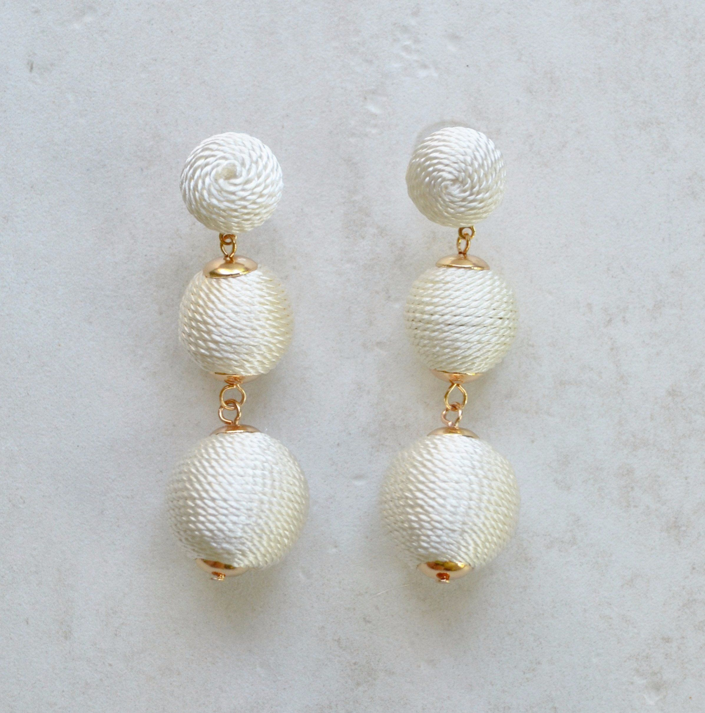 Dreaming Big Earrings (White-Small)