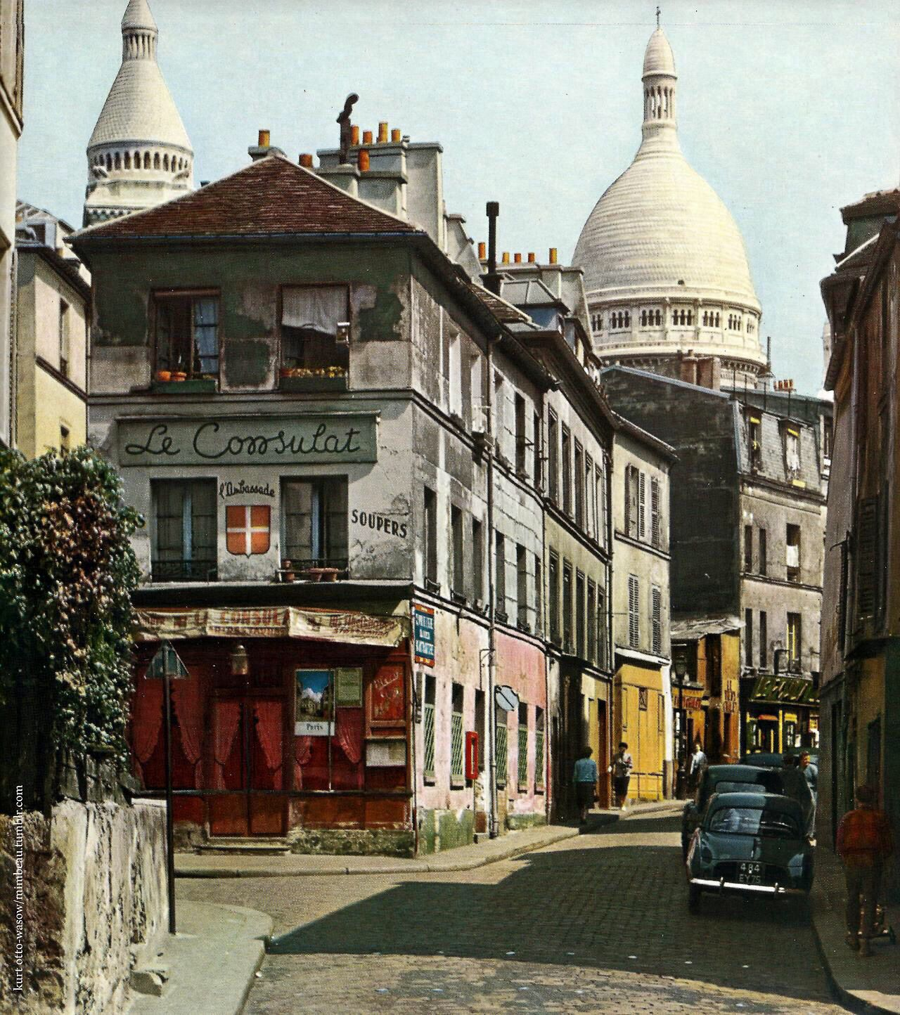 Montmartre, Paris in the 1950s