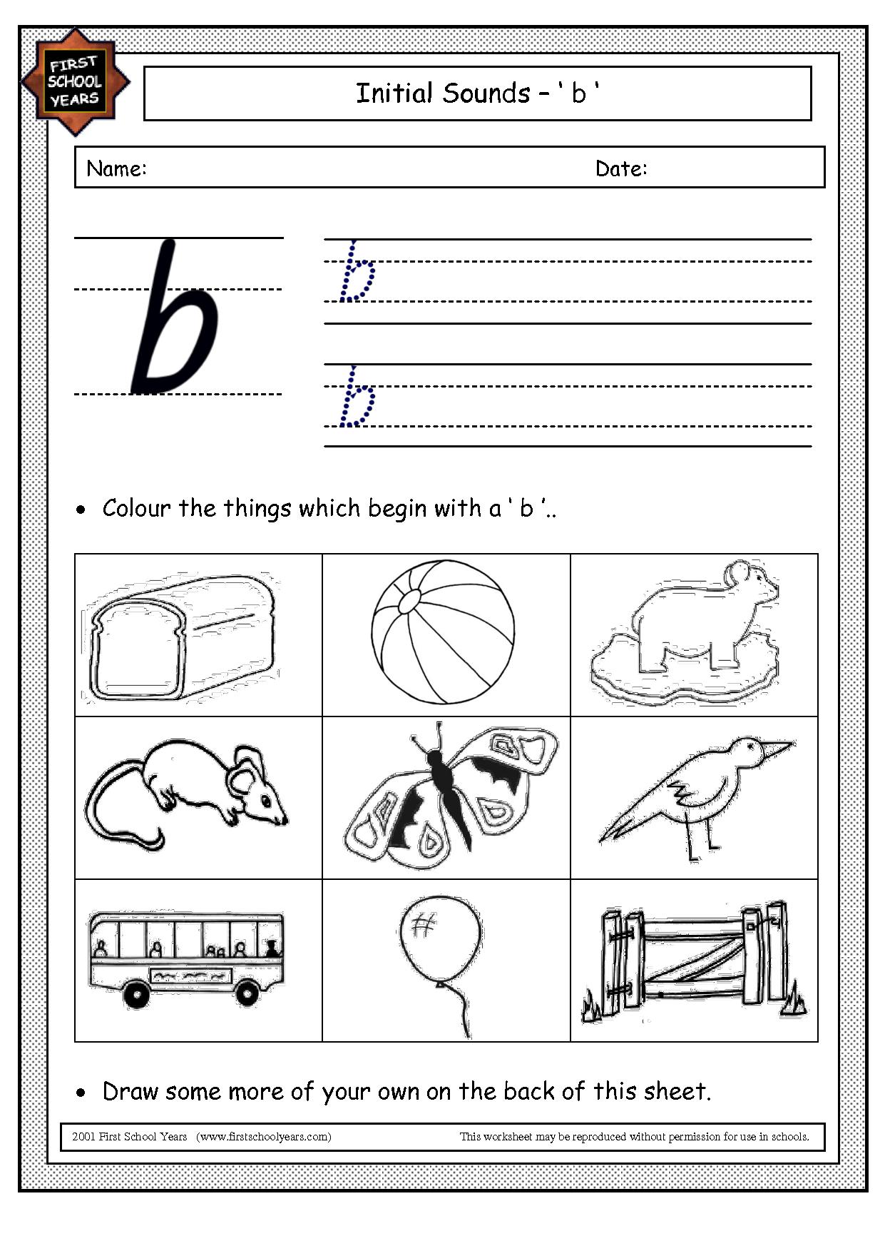 Letter B Worksheets To Download Letter B Worksheets
