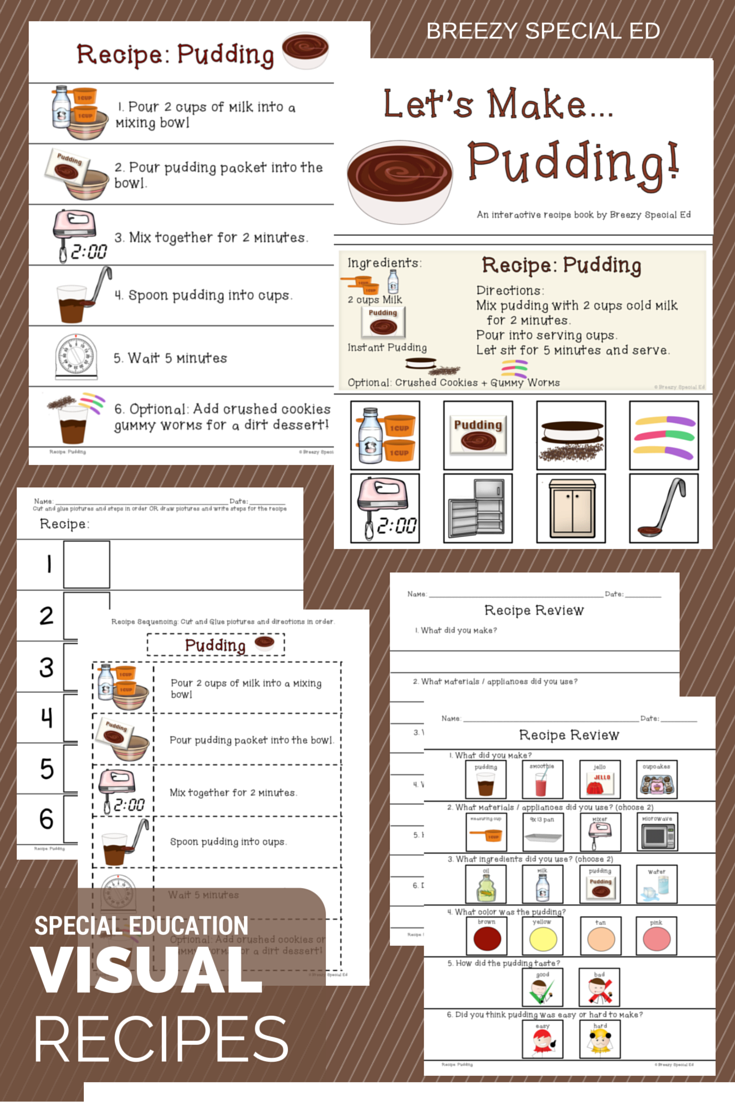 Visual Recipes With Worksheets And Interactive Books A Must For All Special Education Classes Life Skills Classroom Interactive Cooking Visual Recipes [ 1102 x 735 Pixel ]