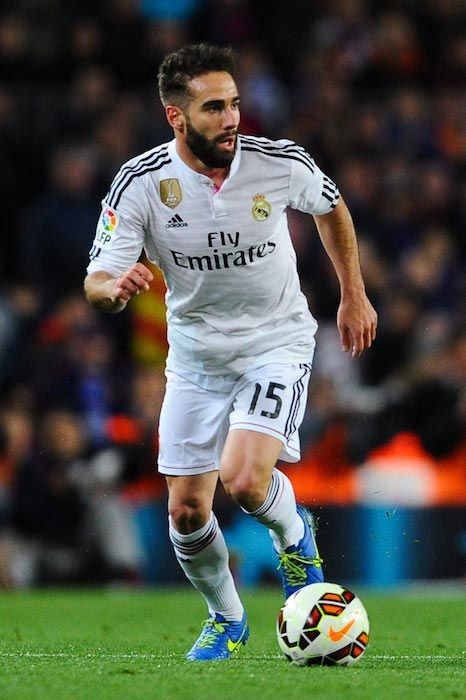 28e54acd597 ... Away Formazione Maglia real madrid green 2016 2017  httpwww.annamaglie.com Dani Carvajal Height Weight Body Statistics ...