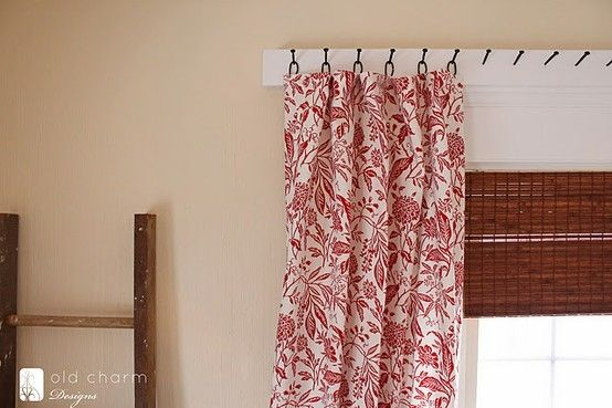 Diy Curtain Rod Using Forged Nails And Homemade Curtains