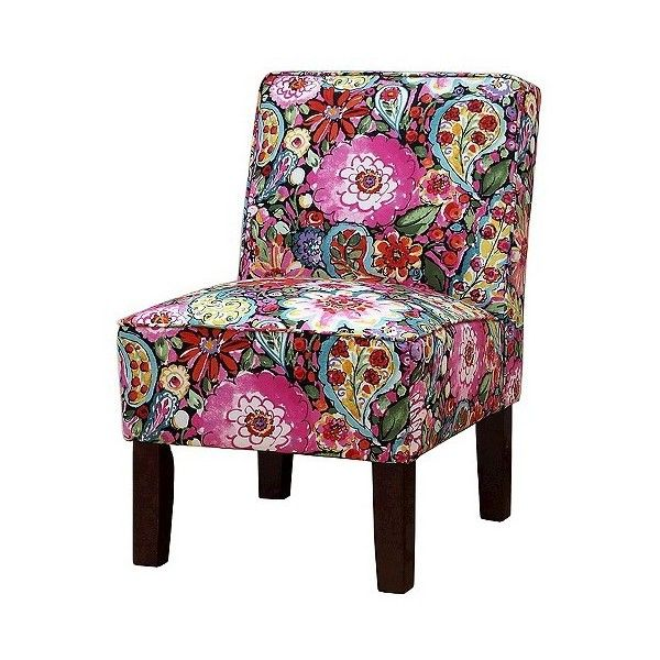 Burke Accent Print Slipper Chair ($128) ❤ Liked On Polyvore Featuring Home,  Furniture