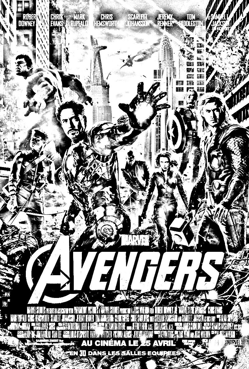 Free Coloring Page Coloring-movie-avengers. Coloring