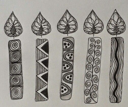 Zentangle--Idea For Birthday Card