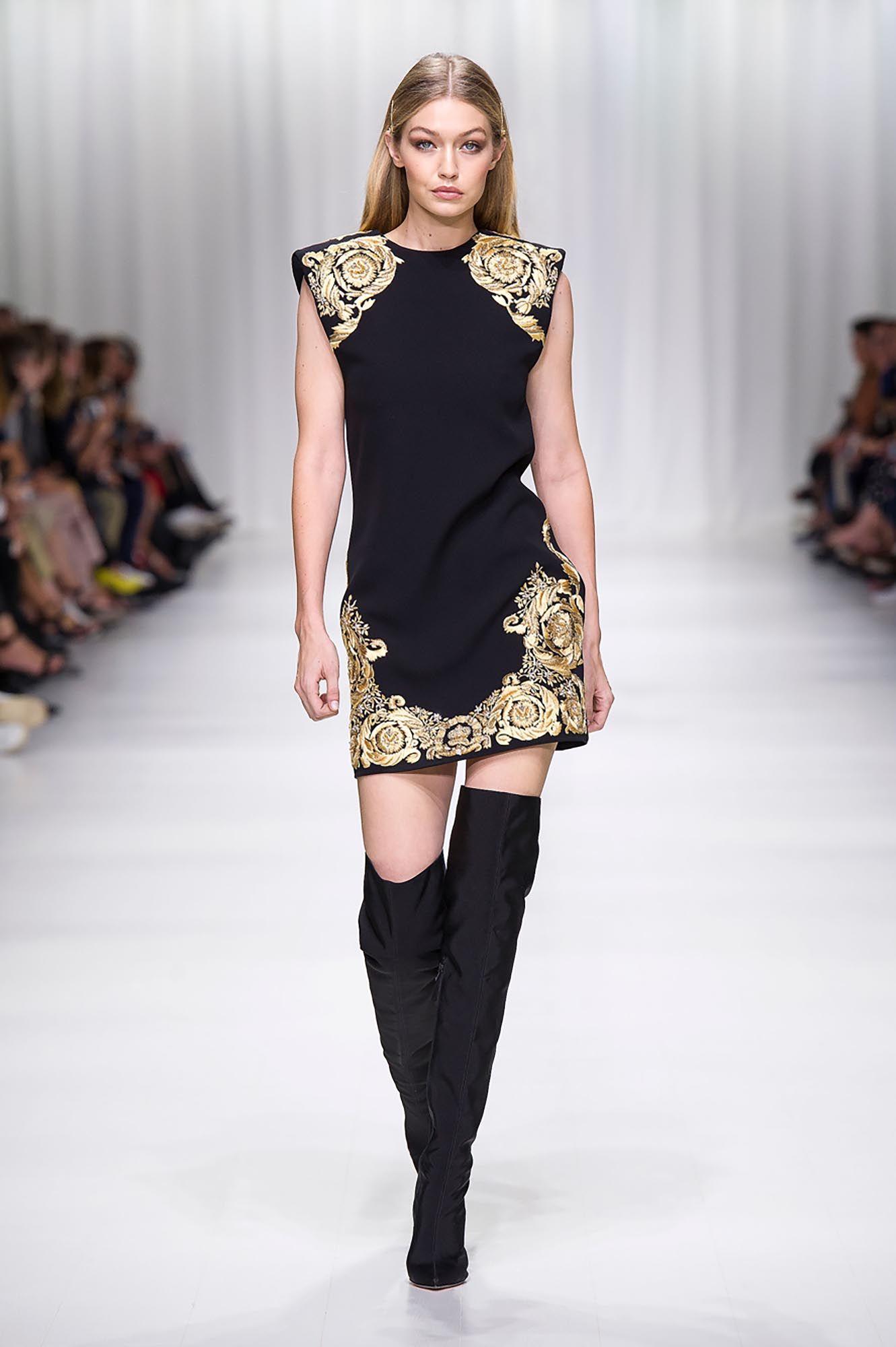 Ladies Versace springsummer runway collection forecast dress in spring in 2019
