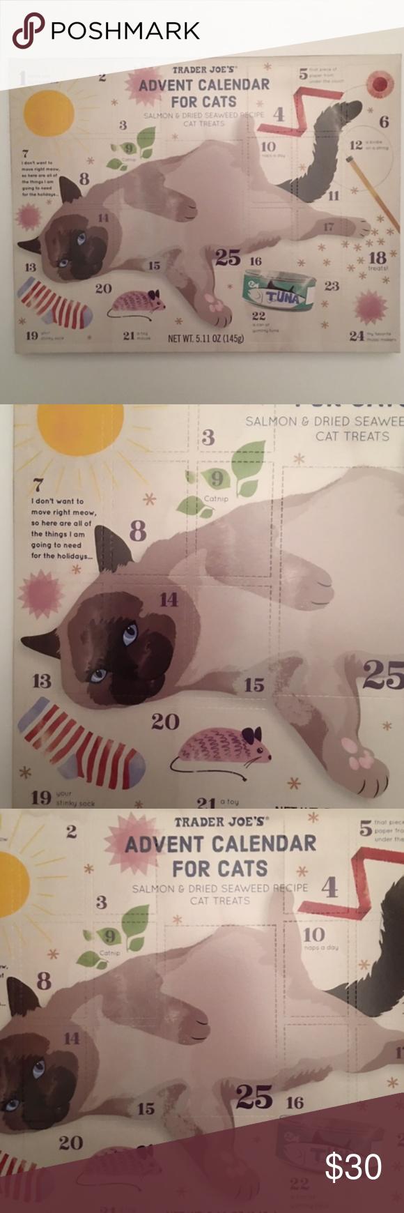 Trader Joe's Cat Advent Calendar NWT NWT Cat advent