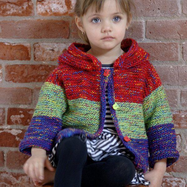 0de67e1011be Plymouth Jelli Beenz Childs Cardigan Knitting Pattern