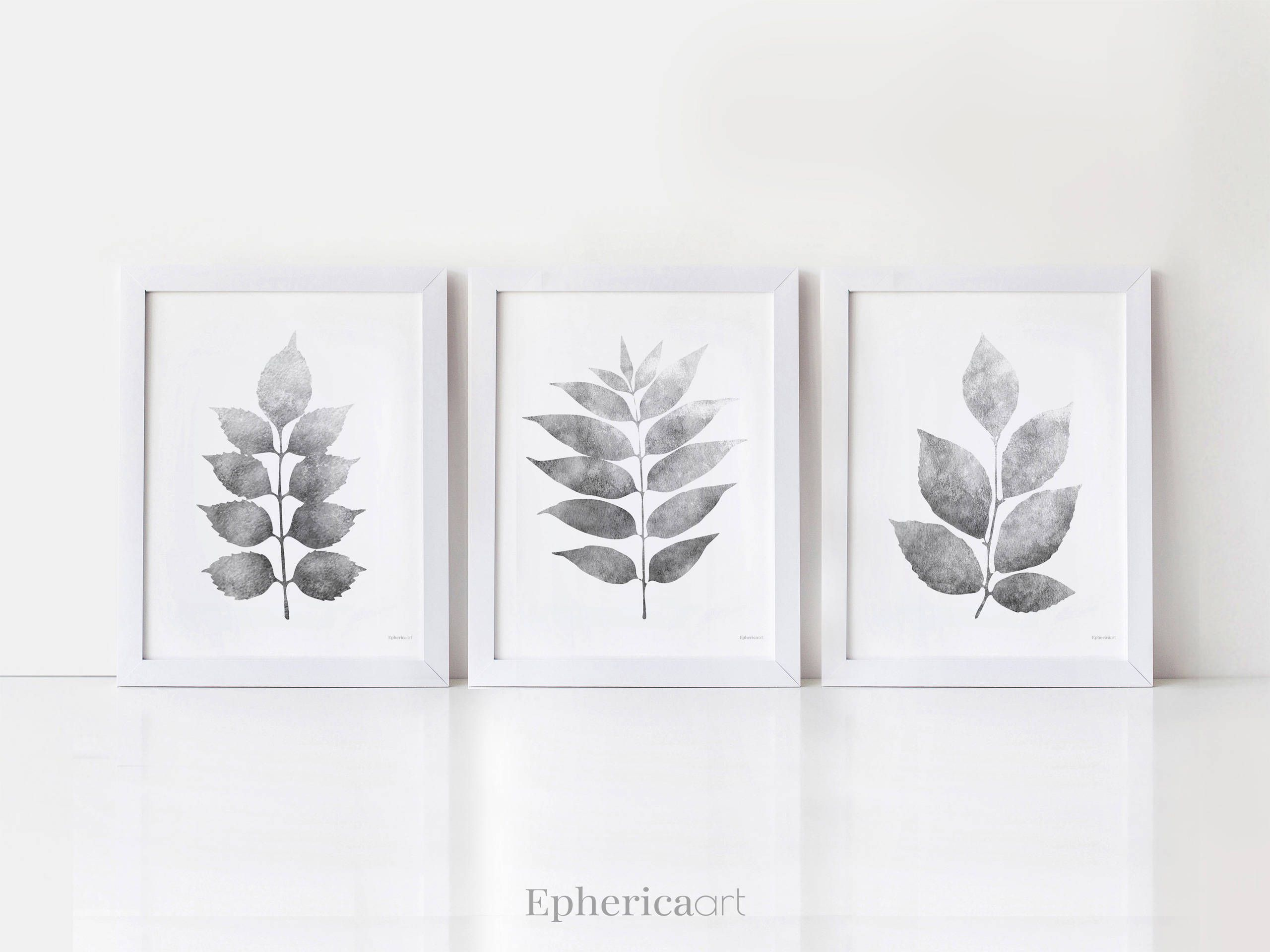 Botanical Set Of 3 Prints Black And White Bathroom Print Set Etsy In 2020 Bathroom Art Printables Printable Art Prints Art Set