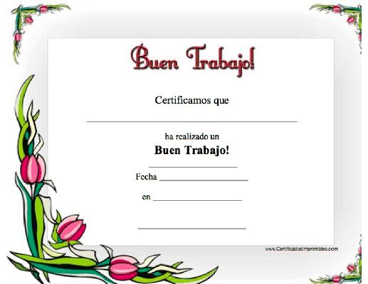Buen Trabajo Para Imprimir Los Certificados Gratis Para Descargar E Imprimir Diplomas De Agradecimiento Diplomas De Reconocimiento Formatos De Diplomas