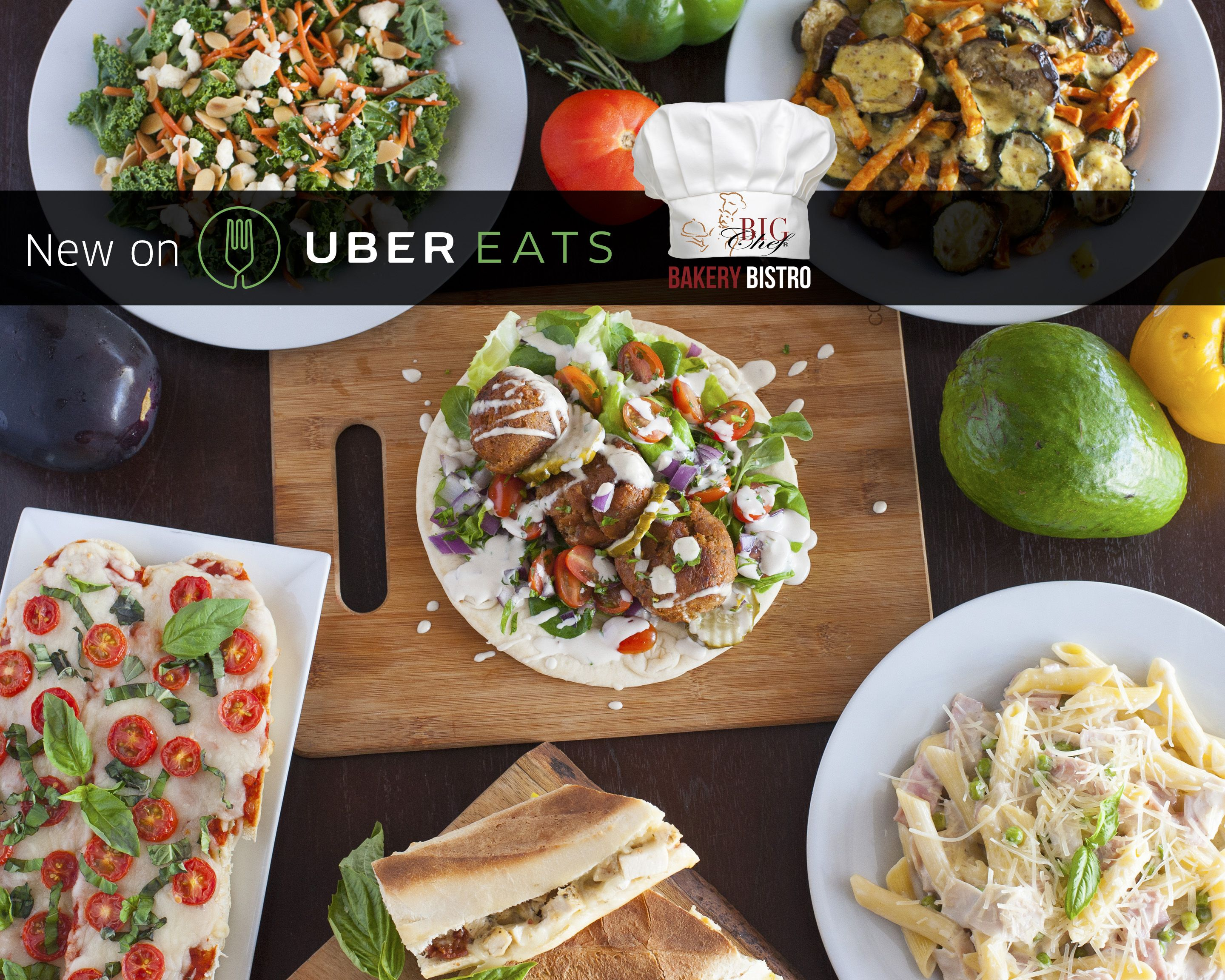 Look Who Is Now On Ubereats Type In Big Chef On Your Ubereats App And Get A Fresh And Delicious Lunch Delivered Within Minutes Yummy Lunches Big Chefs Eat