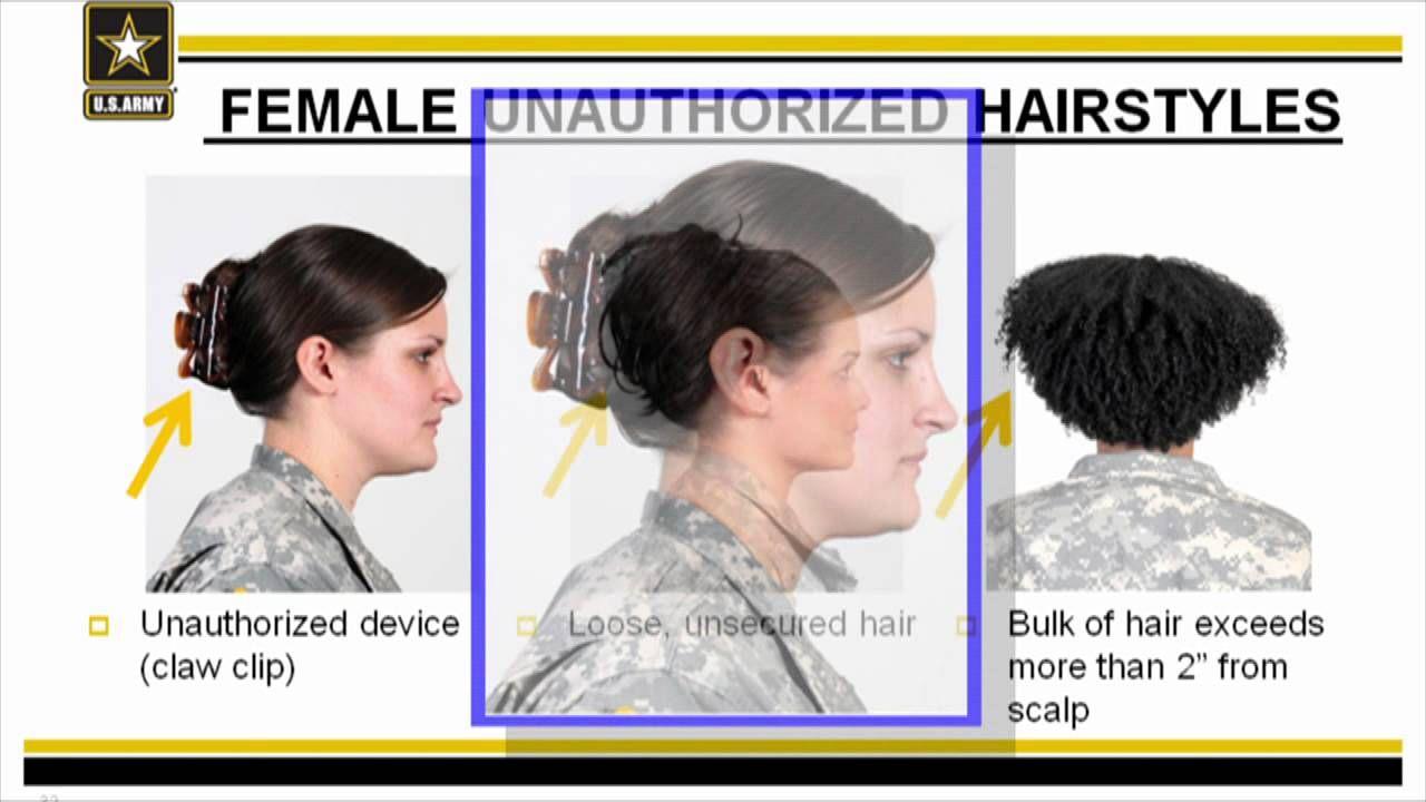 usa army female hair styles. | military | army hair