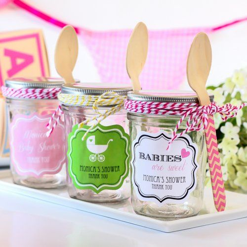 Personalized Baby Shower Mini Mason Jars By Beau Coup