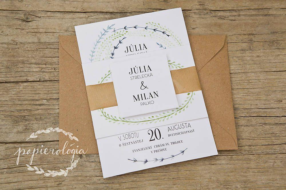 Papiernictvo - Svadobné oznámenie -