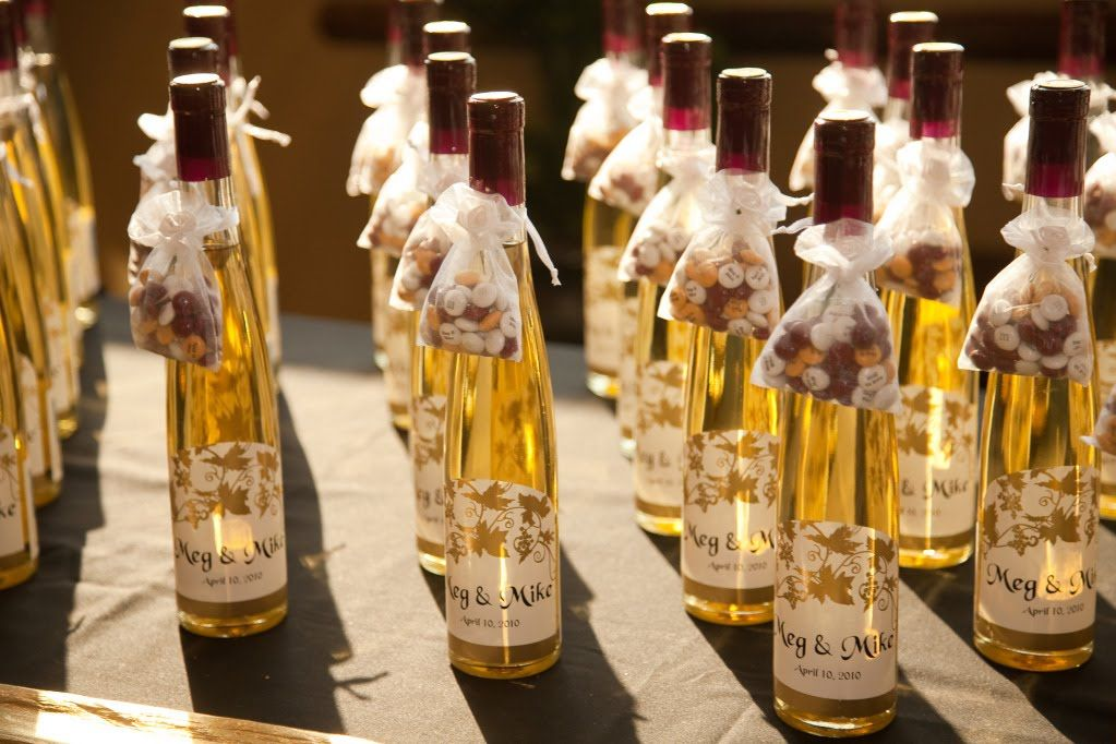 Small Wine Bottles Wedding Favors