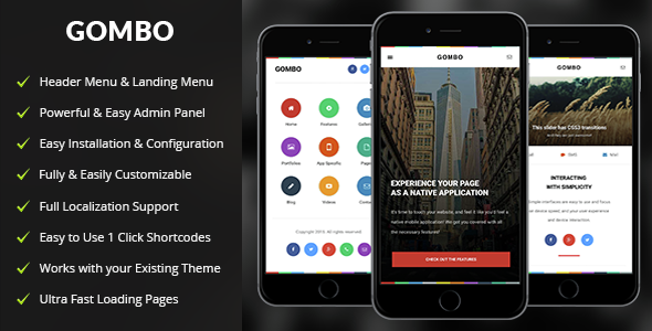 Gombo – Mobile WordPress Theme