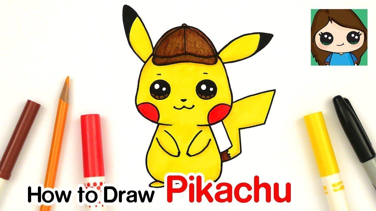 How To Draw Pokemon Detective Pikachu Pikachu Coloring Page Pikachu Drawing Pikachu