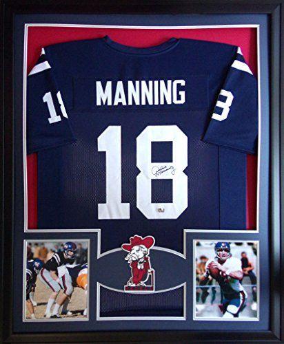 Archie Manning Framed Jersey Signed Radtke Coa Autographed Ole Miss