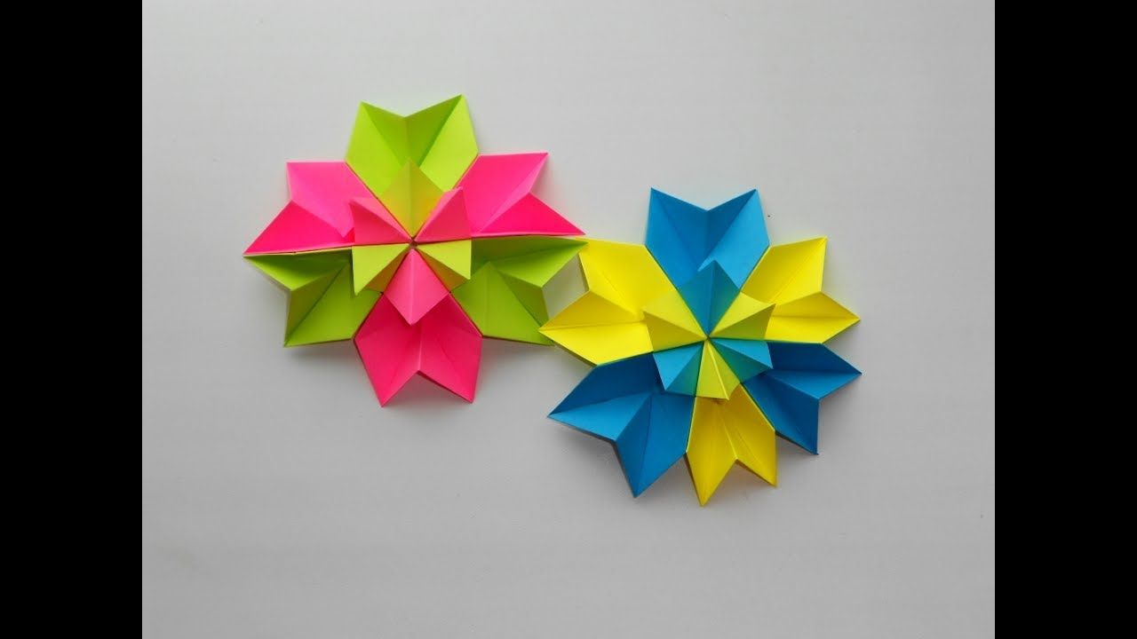 Christmas Flower Origami Paper Artistic Picturesque Www