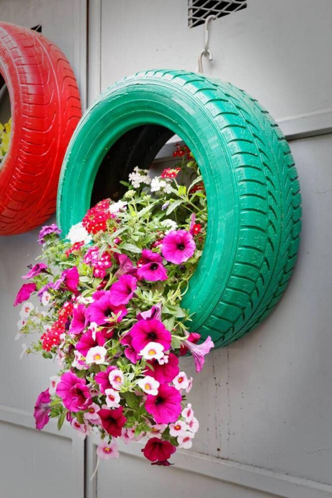 30 impressive diy tire planters ideas for your garden to