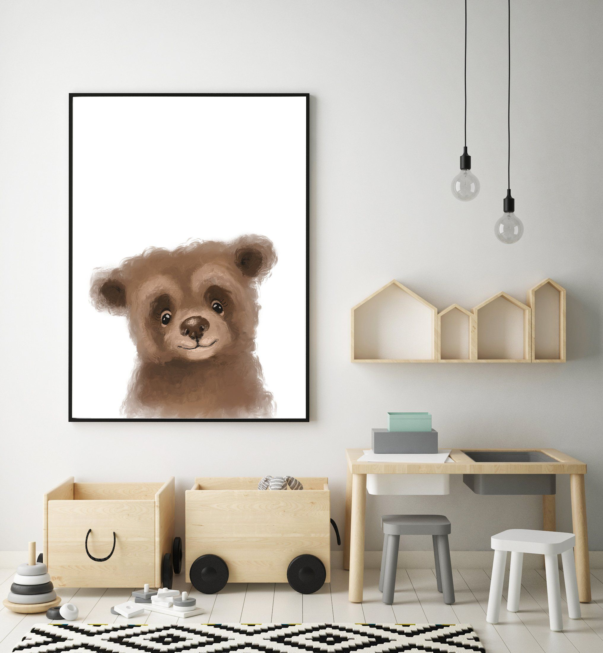 Baby Grizzly Bear Print