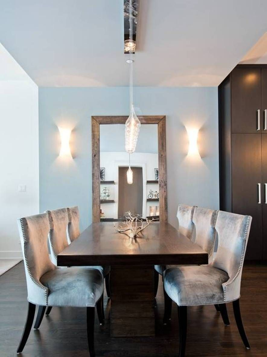 Home Design And Decor  Modern Dining Room Decor Ideas  Modern Prepossessing Mirror In The Dining Room Inspiration Design