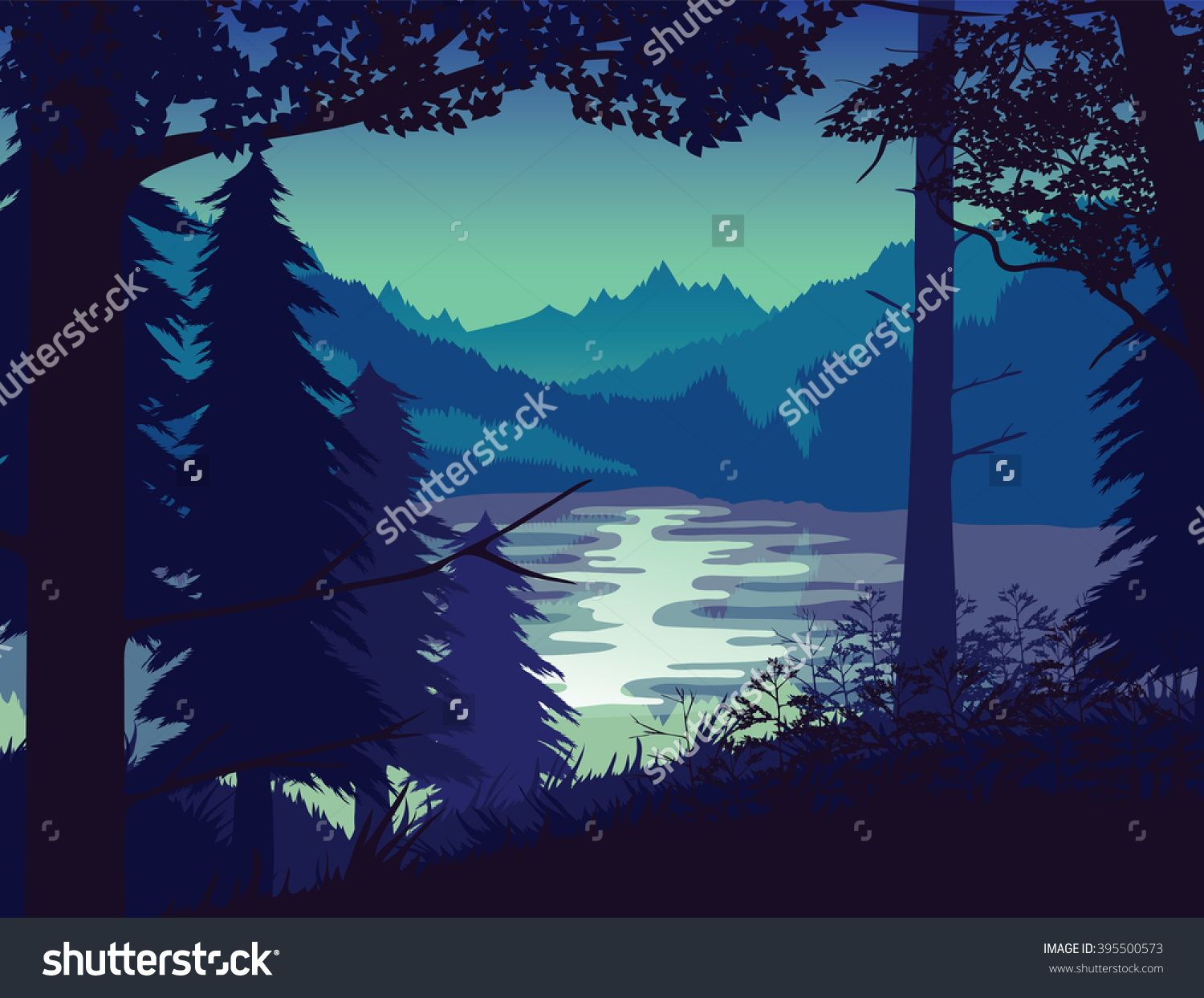 A High Quality Background Of Landscape With River Forest And Mountains Sunset Mountain Landscape Landscape River Forest