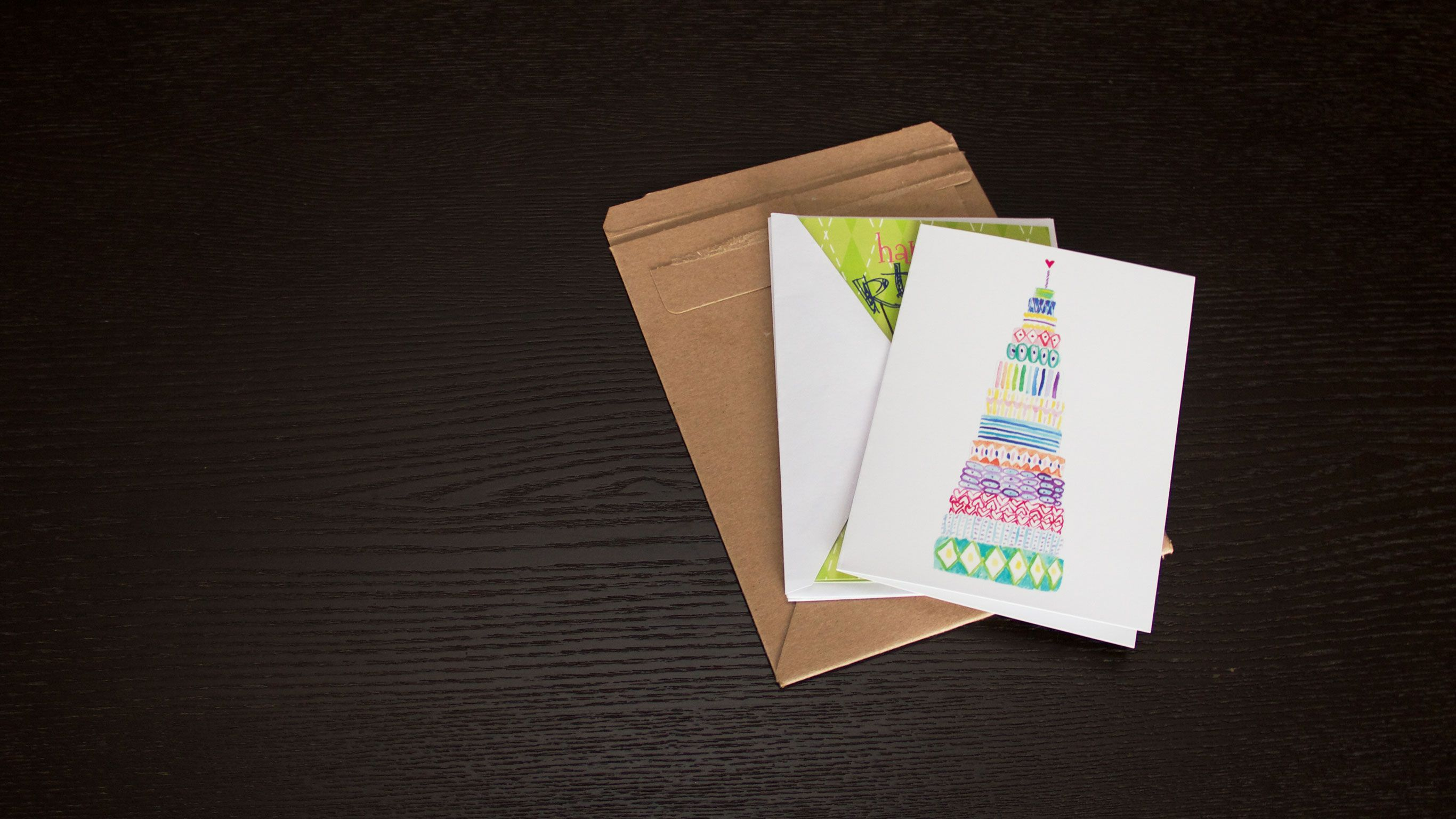 Birthday Cards Delivered ~ Two birthday cards and a package business idea