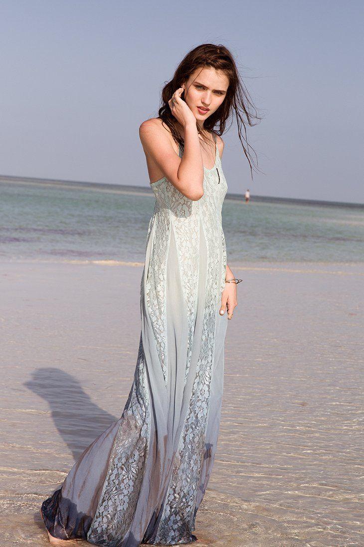 Betsey johnson wedding dresses  Kimchi Blue Beyond The Sea LaceInset Maxi Dress  bridesmaid