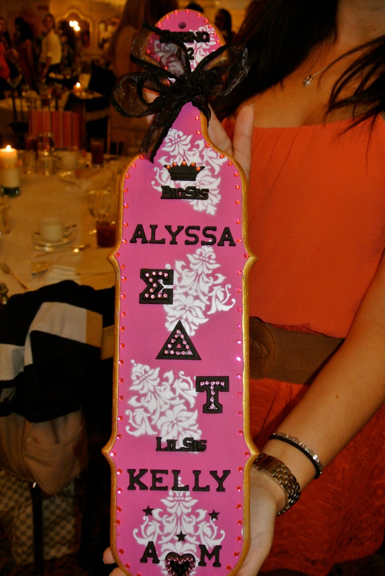 Sorority Paddles | Sigma Delta Tau | Sig delt pink perfection! #SDT #greek #sisterhood #biglittle